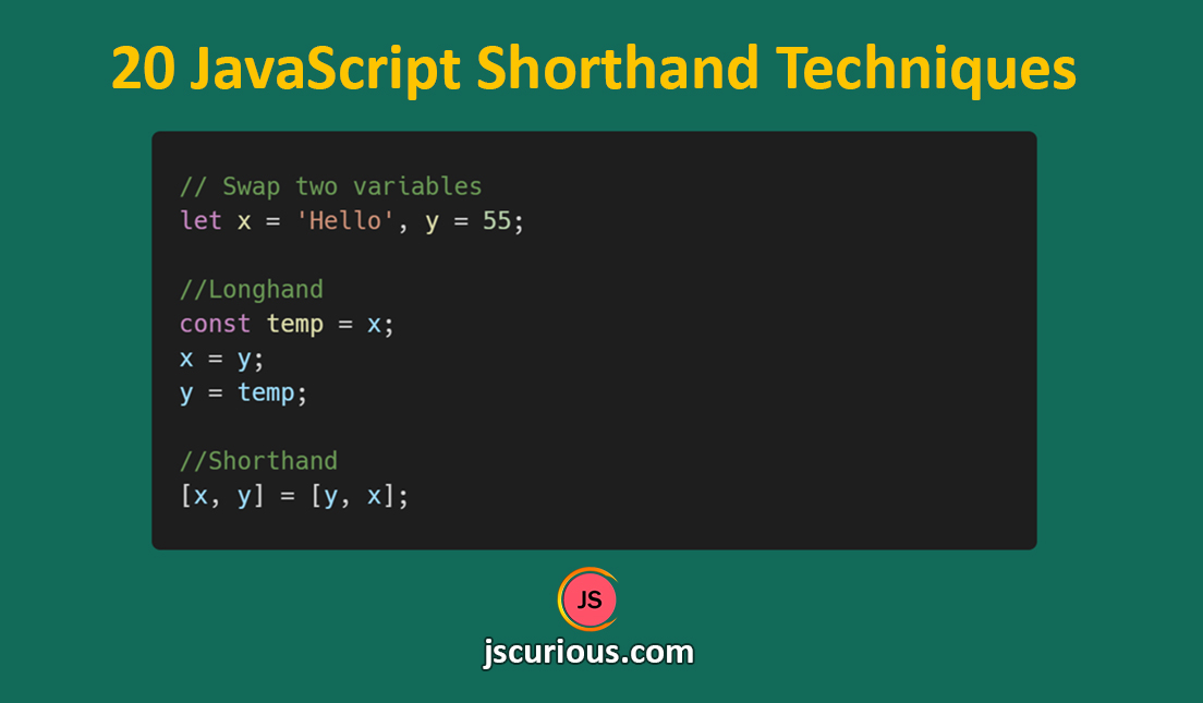 20 JavaScript Shorthand Techniques that will save your time - JS Curious